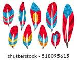 vector set of ornamental... | Shutterstock .eps vector #518095615