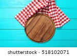 frame of round cutting board... | Shutterstock . vector #518102071