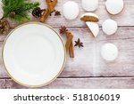 christmas plate on kitchen... | Shutterstock . vector #518106019