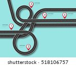 road trip and journey route.... | Shutterstock .eps vector #518106757