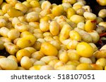 baked potatoes in a summer... | Shutterstock . vector #518107051