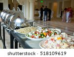banquet table covered with... | Shutterstock . vector #518109619
