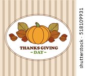 happy thanksgiving. banner with ... | Shutterstock .eps vector #518109931