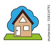 exterior house isolated icon...   Shutterstock .eps vector #518114791