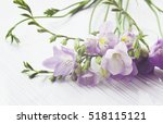 bouquet of freesias flowers on... | Shutterstock . vector #518115121