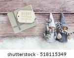 playful winter setting on a... | Shutterstock . vector #518115349