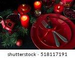 Christmas Table Setting. Low Key