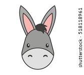 cute mule manger character