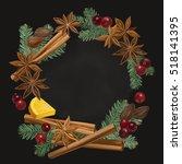 christmas winter spice....   Shutterstock .eps vector #518141395
