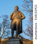 the statue of robert  rabbie ... | Shutterstock . vector #518152921