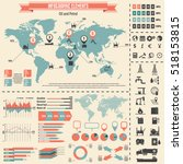 oil industry icon set and... | Shutterstock .eps vector #518153815
