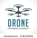 logo   drone flying school | Shutterstock .eps vector #518154601