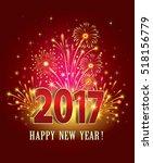 Postcard Happy New Year 2017 O...