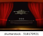 vector premium red curtains in... | Shutterstock .eps vector #518170921
