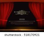 Vector Premium Red Curtains In...