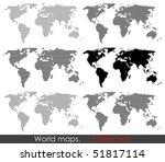 World Map Collection. Set Of...