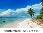 Wild Untouched Beach On Saona...
