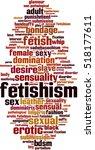 fetishism word cloud concept.... | Shutterstock .eps vector #518177611