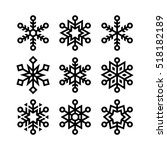 snowflakes for christmas and... | Shutterstock .eps vector #518182189