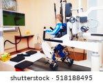 young boy passes robotic gait...   Shutterstock . vector #518188495