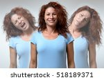 front view on three versions of ... | Shutterstock . vector #518189371