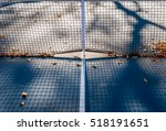abstract tennis court center... | Shutterstock . vector #518191651