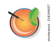 cocktail tea drink from above... | Shutterstock .eps vector #518194057