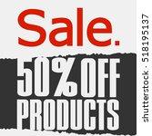 super sale  paper banner  sale... | Shutterstock .eps vector #518195137