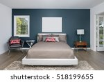 awesome spacious bedroom with... | Shutterstock . vector #518199655