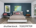 bedroom with modern stylish... | Shutterstock . vector #518199709