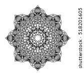 mandala. ethnic decorative...   Shutterstock .eps vector #518201605