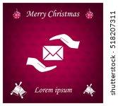 insurance correspondence icon... | Shutterstock .eps vector #518207311