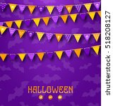 illustration halloween party... | Shutterstock . vector #518208127