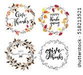 give thanks season hand drawn... | Shutterstock .eps vector #518213521