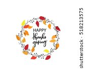 give thanks season hand drawn... | Shutterstock .eps vector #518213575