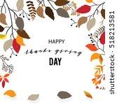 give thanks season hand drawn... | Shutterstock .eps vector #518213581