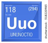 ununoctio symbol   ununoctium...   Shutterstock .eps vector #518220985