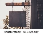 Blank Rusty Metal Hanging On...