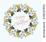 x mass gifts circular pattern | Shutterstock .eps vector #518232901
