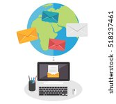 email marketing  email concept. | Shutterstock .eps vector #518237461