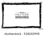 grunge halftone frame vector... | Shutterstock .eps vector #518242945