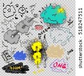 cartoon cloud icons in comic... | Shutterstock .eps vector #518247511
