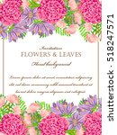 vintage delicate invitation... | Shutterstock . vector #518247571