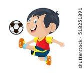 Boy Playing Football...