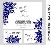 romantic invitation. wedding ... | Shutterstock .eps vector #518257819