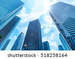high rise buildings and blue... | Shutterstock . vector #518258164
