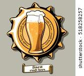 craft beer brewery emblem on...   Shutterstock .eps vector #518258257