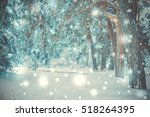 snow covered trees plants... | Shutterstock . vector #518264395