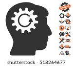 head gear rotation pictograph... | Shutterstock .eps vector #518264677