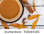Pumpkin Pie With Autumn...